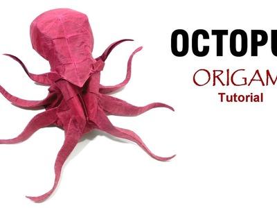 Origami Octopus tutorial (Satoshi Kamiya) 折り紙 タコ оригами учебник  осьминог