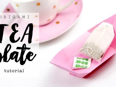 Origami Tea Plate. Dish Tutorial ♥︎ DIY ♥︎ Paper Kawaii