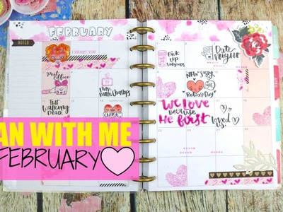 Plan with me|Happy Planner|Stamping & watercoloring