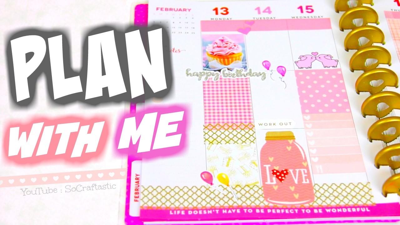 plan with me happy planner valentines amp birthday spread