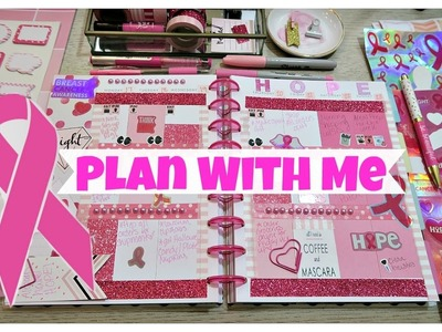 Plan with me | Pink, Breast Cancer Awareness Theme | Happy Planner 2016