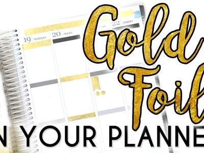 PLANNER HACK. How to EASILY Add Foil to Your Planner!!. PopFizzPaper