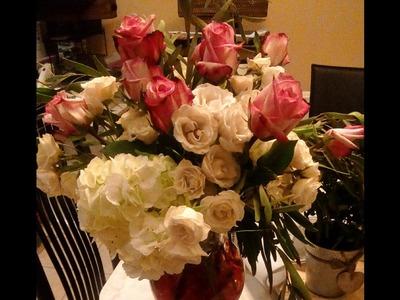 Romantic Valentine Floral Arrangement DIY.Month of Love Day 13