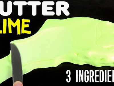 Super Easy BUTTER SLIME 3 INGREDIENTS No Borax, No Clay