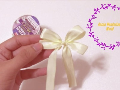 Super Easy Origami How to Make Simple Bow. Ribbon 超级简单手工折纸 蝴蝶结.缎带结   超簡単折り紙 リボンです