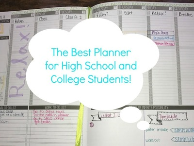 The Best Planner for High School and College Students! Planning in My Passion Planner!