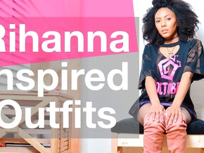 THRIFT Shopping + DIY  | Rihanna Inspired Outfits || Chanel Oldham