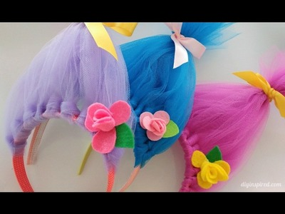 Trolls Movie DIY Craft: How to Make Toll Hair Headbands