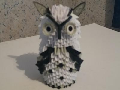 Tutorial bufnita origami 3D---Tutorial origami 3D owl