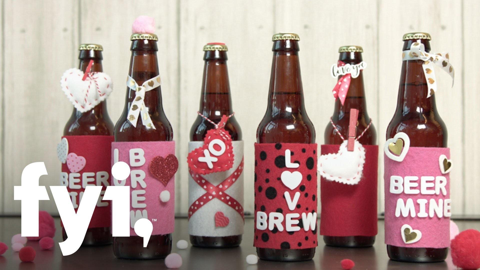 Valentine's Day DIY: Love-Brew Labels | FYI