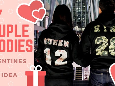 Valentine's Day Gift DIY Couple Hoodies