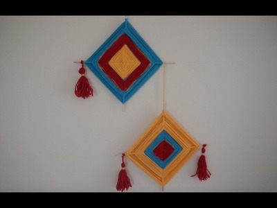 Wall Hanging With Yarn(God's Eye craft)