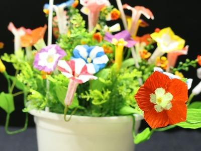 12.1: Làm hoa dạ yên thảo bằng giấy nhún - Petunia paper flower tutorial