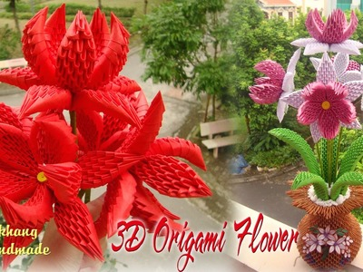 3D ORIGAMI FLOWER 2 COLLECTION | PAPER FLOWER HANDMADE DECORATION