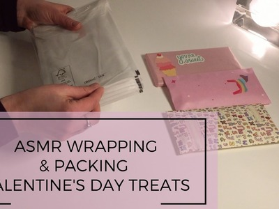 ASMR wrapping and packing Valentine's Day treats ~no talking ~ paper sounds ~