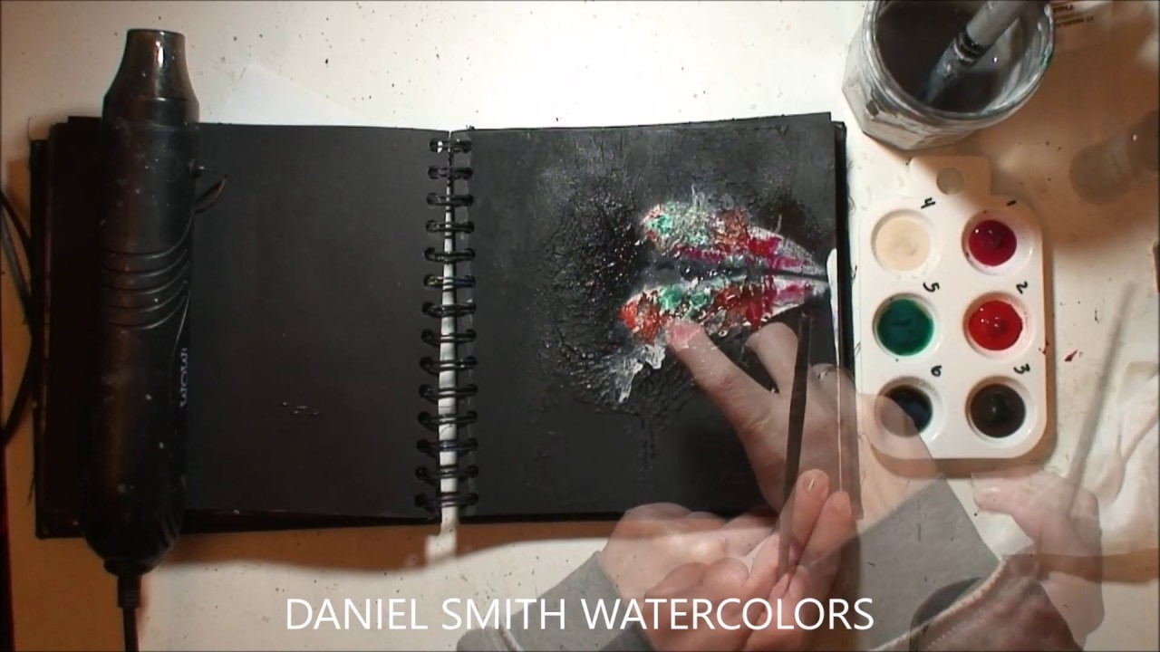 Black Art Journal Page by Athanasia - how to create a textured background
