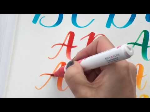 Brush Lettering - How to Blend with Watercolor Brush Pens