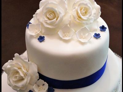 Cake decorating tutorials - how to make fondant roses - Sugarella Sweets