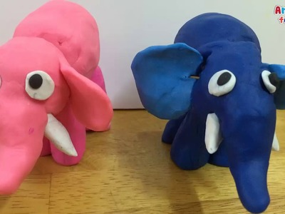 Clay for kids | Clay art for kids | How to make a clay elephant 2 | Clay animals | Art for kids