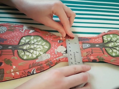 Cloth menstrual Pad Tutorial - How To Apply Kam Snaps, Remove and Mark Absorbency