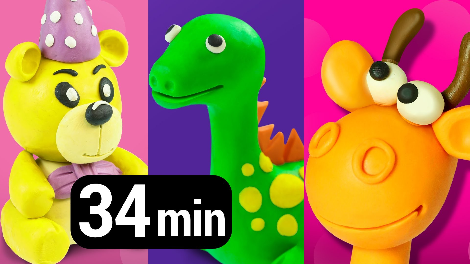 Collection of Play Doh Videos creative DIY fun for Kids   Learn colors numbers shapes animals