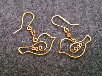 Couple bird earring - How to make wire jewelery 200