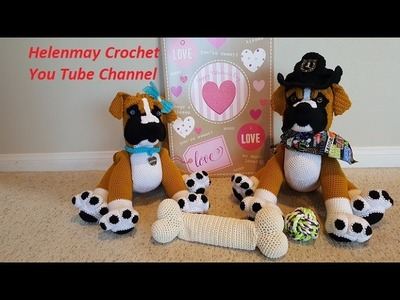Crochet Amigurumi Boxer Dog Part 1 of 3 DIY Video Tutorial
