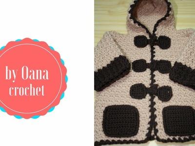 Crochet Montgomery coat by Oana