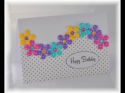 DIY Crafts - How to Make Floral Greeting Card + Tutorial .