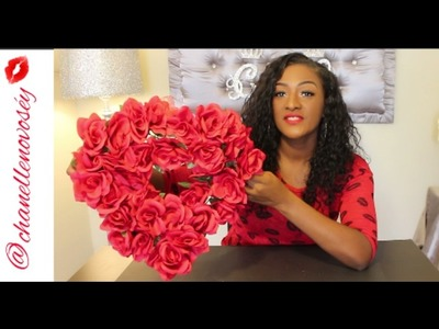 DIY Dollar Tree  Rose Heart Shaped Wreath || Red Rose Floral Design || Valentine's Day
