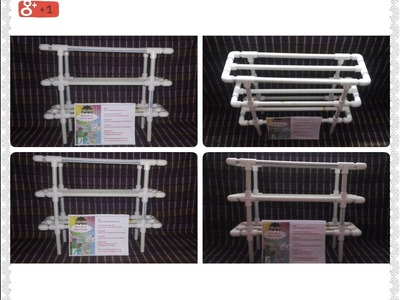 DIY-HOME MADE MULTI PURPOSE RACK MADE WITH PLASTIC PIPES (IN HINDI)