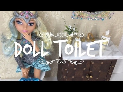 DIY-How to make: DOLL TOILET || Dollhouse Miniature Crafts