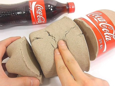 DIY How To Make 'Kinetic Sand Big Coca Cola' Learn Colors Jelly Slime Foam Clay | Finger Family Song