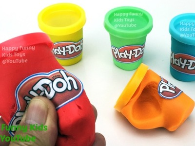 DIY How to Make Play Doh Cans with Play Doh Fun and Creative for Kids and Toddlers
