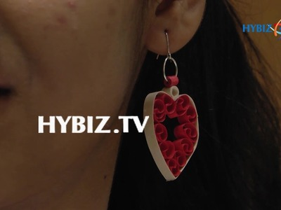 DIY   How to Make Quilling Paper Earring   hybiz