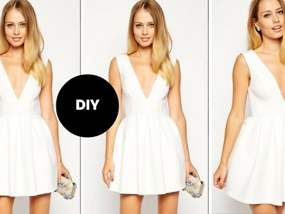 DIY I How To Make A Skater Dress With Plunge Neckline I Beginner Sewing I Ovoke
