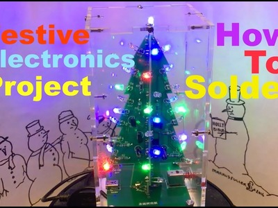 DIY LED festive tree and tips on how to solder components
