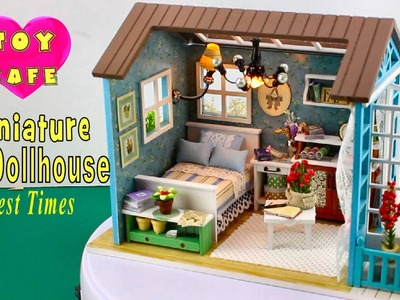 """DIY Miniature Dollhouse Kit With Working Lights """"Forest Times"""""""