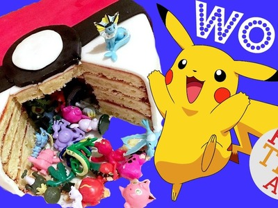 DIY Pokemon Cake - for BEGINNERS - Pokemon Pinata Cake - How to Make a DIY Pokeball Cake