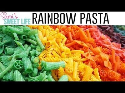 DIY Rainbow Pasta Toddler Sensory Box | How to Dye Pasta