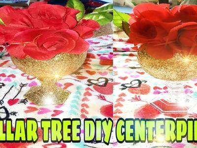 DIY VALENTINE'S DAY CENTREPIECE.  DOLLAR TREE DIY CENTERPIECE