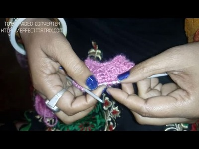 Easy knitting in Hindi design no 1