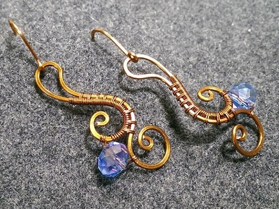 Flower earring - How to make wire jewelery 207