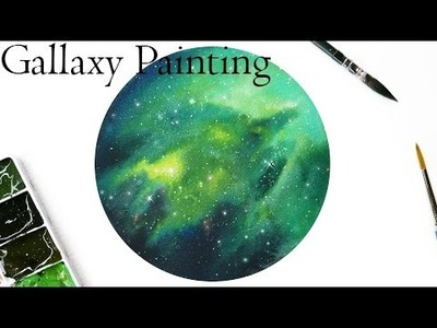 Galaxy Watercolor Painting Tutorial - Speed Painting