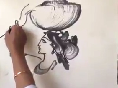 How to art beautiful images using rope, ink and paper.