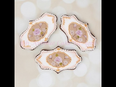 How to Create and Hand Painted  Inspired Vintage Limoges China Rose Cookies