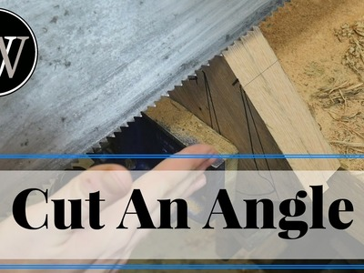 How to Cut an Angle With A Hand Saw Hand Tool Woodworking Skill