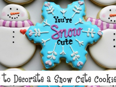 How to Decorate a Snow Cute Cookie Set