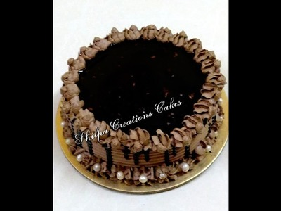 How to Decorate Eggless Chocolate Truffle Cake