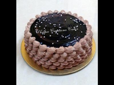 How to decorate Eggless Chocolate Cake